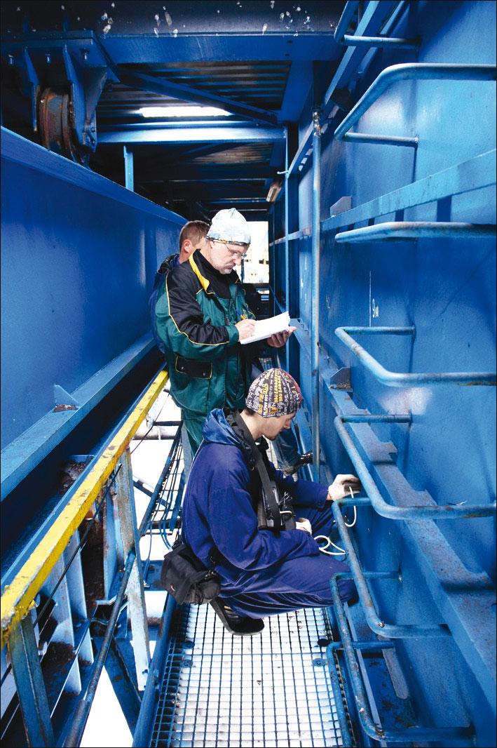 Моніторинг технічного стану судноперевантажувача