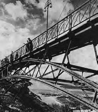 Парковый мост над петровской аллеей, Киев, 1950 г.