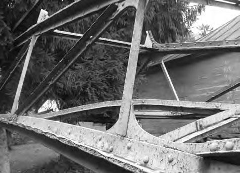 Фрагмент паркового моста в Музее Бенардоса, Переяслав -Хмельницкий 1985 г.