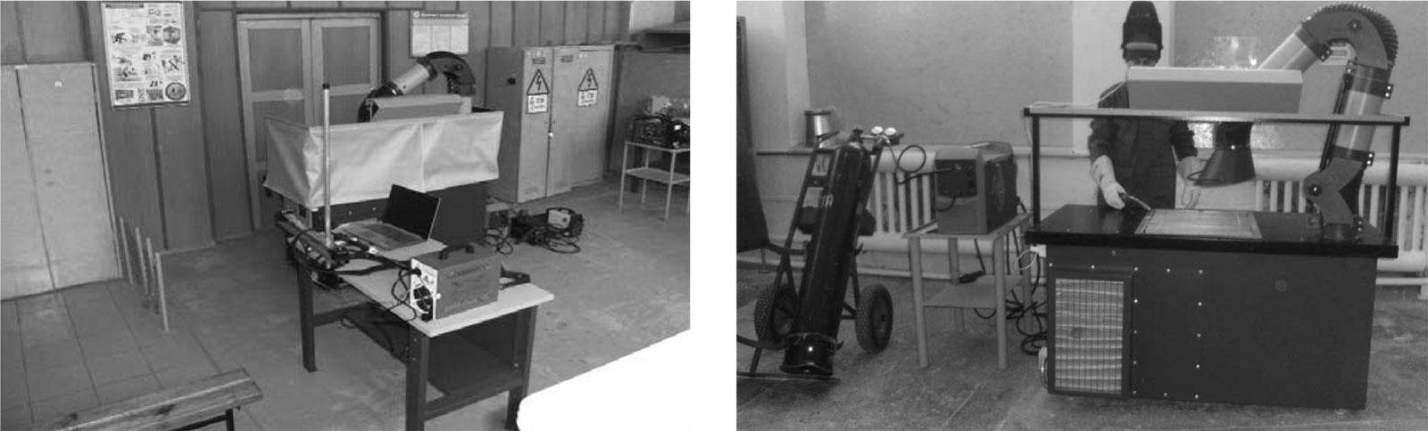 Універсальний стіл зварника з пристроєм очистки від зварювального аерозолю із зони зварювання при проведенні зварювальних робіт на столі